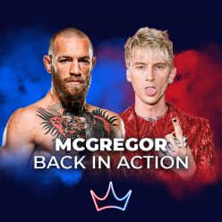 Conor McGregor in action at the 2021 MTV VMA - London Betting Shop lbsbet.com